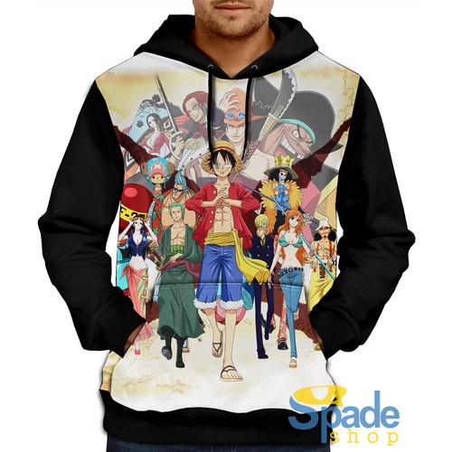 Foto Produk jaket sweater hoodie one piece mugiwara crew monkey D luffy - S dari spade shop