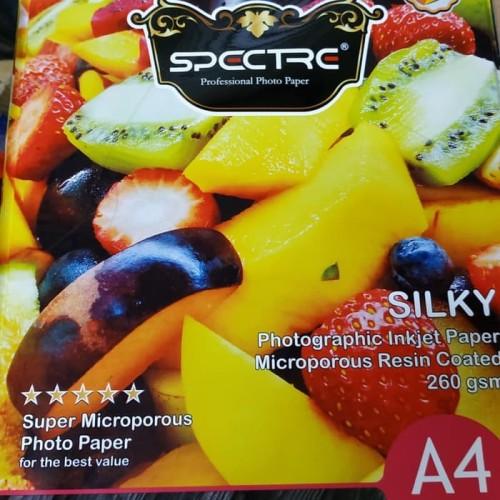 Foto Produk Spectra Silky Photo Paper A4 260 Gr Inkjet Paper dari Belanja Bebas