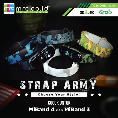 Foto Produk Xiaomi Miband 3 Rubber Strap Army Camo Gelang Karet Mi Band 3 dari MRC Phone Shop