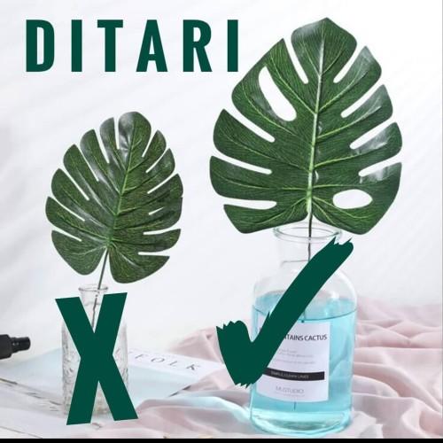 Foto Produk DAUN MONSTERA PHILODENDRON BUNGA PLASTIK ARTIFICIAL PALSU dari Ditari shop