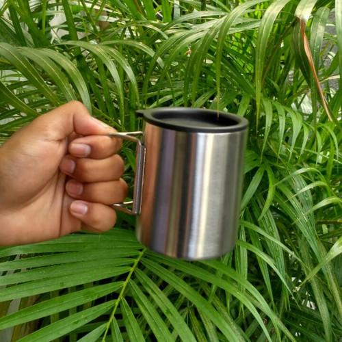 Foto Produk Gelas/Mug Stainless Steel Gagang Lipat dari Lapak_KQ5 Jakarta