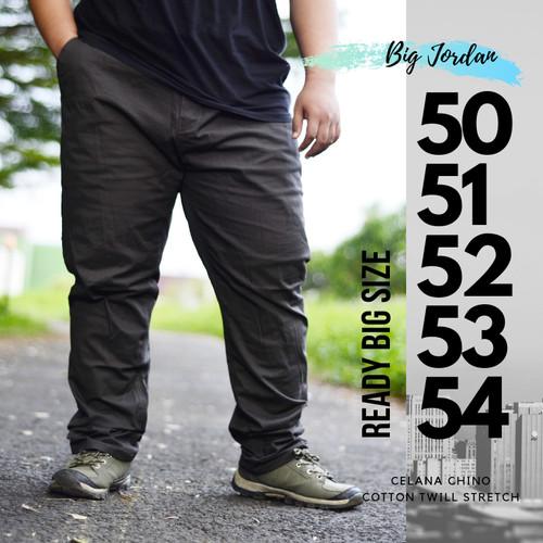Foto Produk celana chino pria big size 50 51 52 53 54 celana chinos jumbo abu tua dari RAZENA STORE