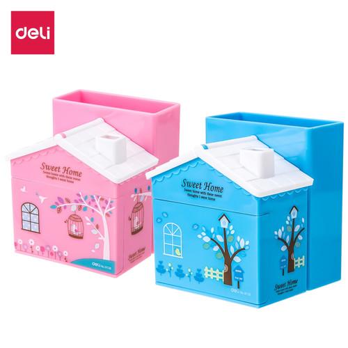 Foto Produk Deli E9138 Pulpen stand-PS House Desk Organizer 3 Comp Pink Blue - Biru Muda dari Deli Stationery