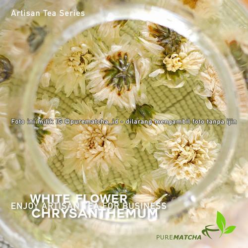 Foto Produk Artisan Tea Tisane - White Chrysanthemum 10gr Teh Bunga Krisan Putih dari Pure Matcha