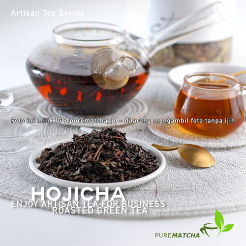 Foto Produk Artisan Tea Cafe - Hojicha 10gr Teh Hijau Roasted Green Tea Cafe Latte dari Pure Matcha