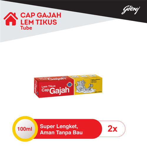 Foto Produk Lem Tikus Cap Gajah Tube 100ml - 2pcs dari Godrej Indonesia Store
