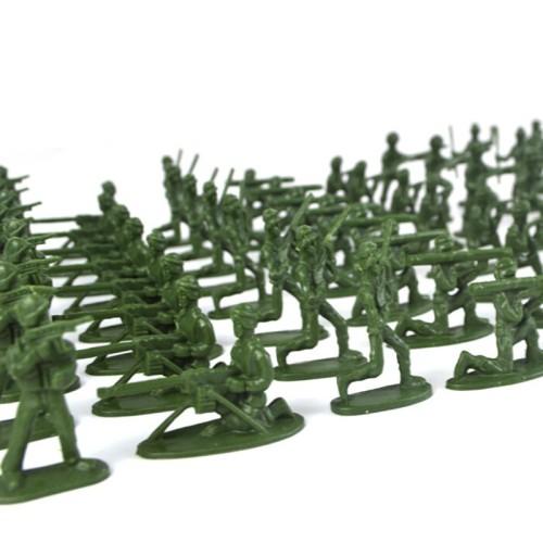 Foto Produk mqsetenid 100 Pcs Set Mainan Prajurit Klasik Mini Warna Acak untuk Ana dari Random Shop O