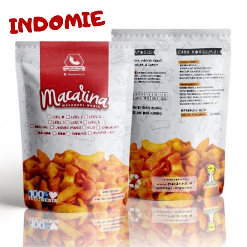 Foto Produk Macarina (Macaroni Nagih) Exsclusive Rasa Indomie Cemilan/Snack Hitz - Level 0 dari Macarina Official Store