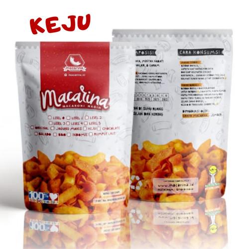Foto Produk Macarina (Macaroni Nagih) Exsclusive Rasa Keju Cemilan/Snack Hitz - Level 0 dari Macarina Official Store