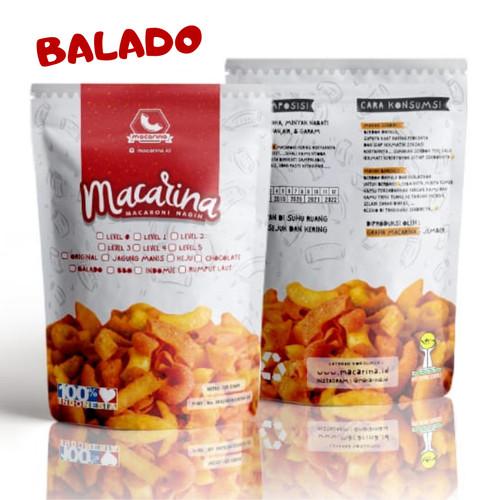 Foto Produk Macarina (Macaroni Nagih) Exsclusive Rasa Balado Cemilan/Snack Hitz - Level 0 dari Macarina Official Store