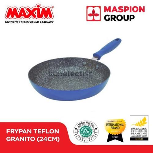 Foto Produk Maxim Granito Frypan / Wajan Penggorengan 24cm - Biru dari SUN ELECTRIC