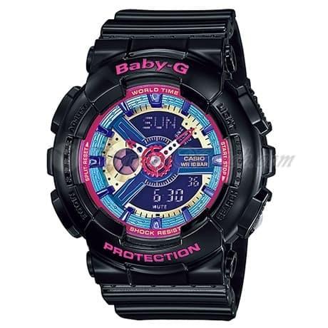 Foto Produk JAM TANGAN WANITA MERK BABY-G TYPE BA-110 HITAM WARNA ORI BM dari GMT Watch Store