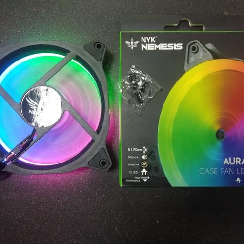 Foto Produk Fan Casing 12cm NYK AURA Nemesis LED RING Auto RGB Gaming Fan Case dari scriptechnology