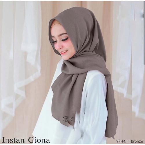 Foto Produk Pashmina Instan Hijab Jilbab Kerudung Pastan Instan Giona Polos Grey dari beautycornerjogja
