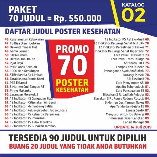 Foto Produk Jual Paket Poster Kesehatan dari Syafana