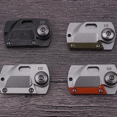 Foto Produk KST HALSTUST Pisau Lipat Mini Gantungan Kunci Knife Survival Tool EDC dari KimimelaStore
