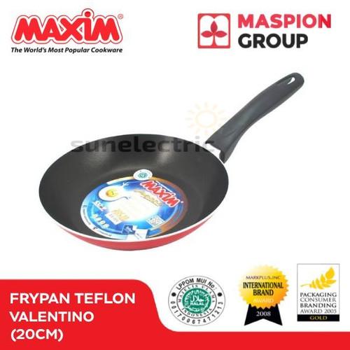 Foto Produk Wajan / Penggorengan (Fry Pan) Teflon 20 cm Maxim Valentino dari SUN ELECTRIC