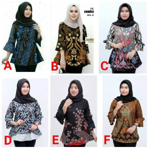 Foto Produk Atasan Batik Wanita B Blus Batik Pekalongan Wanita Blus Batik Kerja - Atasan Batik, L dari Nani Batik Pekalongan