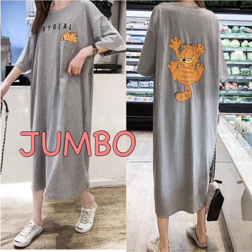 Foto Produk Damai fashion jakarta - long dress JUMBO wanita STAY REAL - konveksi - Hijau dari LV.co Tanah abang