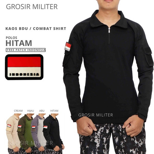 Foto Produk Combat Shirt Kaos BDU Cream Gratis Patch dari Grosir Militer