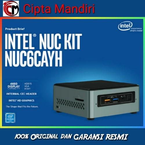 Foto Produk Intel NUC 6CAYH + SSD 120GB + Memory 4GB dari Cipta Mandiri Computer