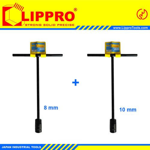 Foto Produk [BUNDLING] LIPPRO KUNCI SOK T SET 2 PCS 8 - 10 MM dari Lippro Tools