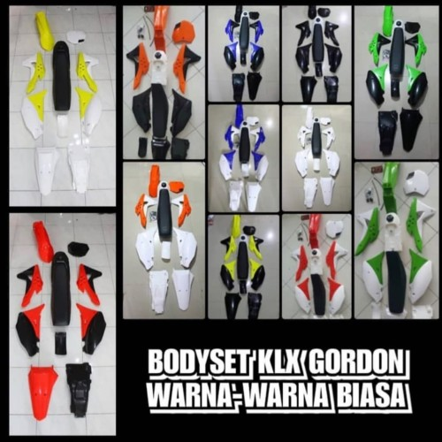 Foto Produk BODY SET GORDONS KLX. BODYSET FULLSET GORDON DTRACKER KAWASAKI ENDURO dari D2R MX SPEED SHOP ID