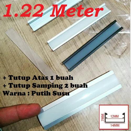 Foto Produk Lis LED 1.22M List Rel Rumah Lampu LED Strip Alumunium Acrylic Cover dari Natz