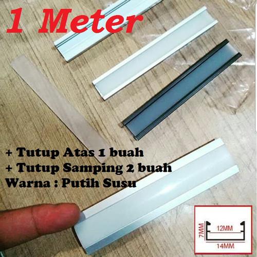 Foto Produk Lis LED 1 meter List Rel Rumah Lampu LED Strip Alumunium Acrylic Cover dari Natz