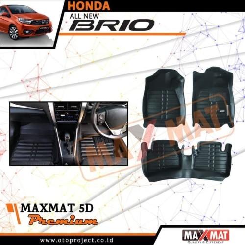 Foto Produk Karpet mobil maxmat 5d tipe Premium black All New Brio 2018-2019 dari Mega Oriental Motor