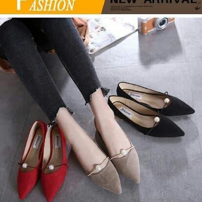 Foto Produk flat shoes mutiara dari efraim shoes
