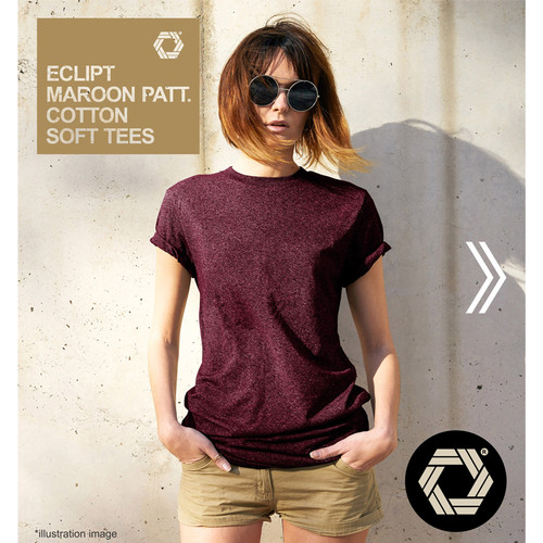 Foto Produk Eclipt T-shirt Wanita Polos - Kaos Cewek Lengan Pendek Threetone - Maroon Pattern, S dari Eclipt Official