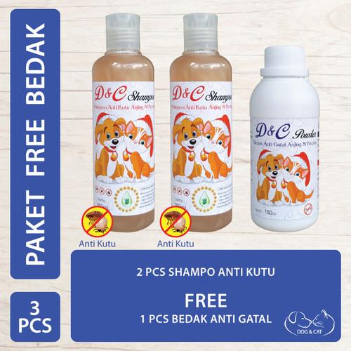 Foto Produk D&C Shampo Anti Kutu Free Bedak Anti Gatal Anjing & Kucing 150 Gram dari Produkkita