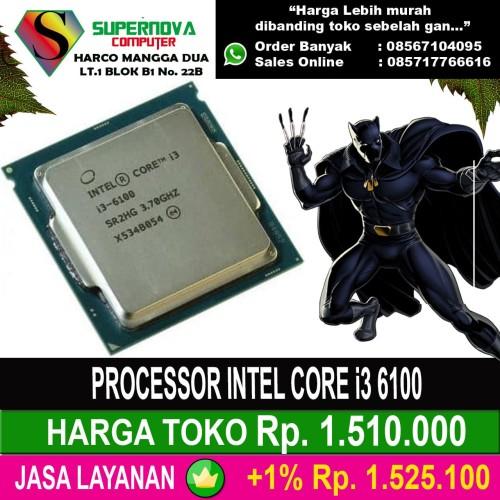 Foto Produk PROCESSOR INTEL CORE i3 6100 dari Supernova Computer Ariet