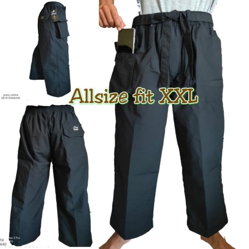 Foto Produk Celana pangsi sirwal tali kantong hp dewasa jumbo dari Toko Graciella