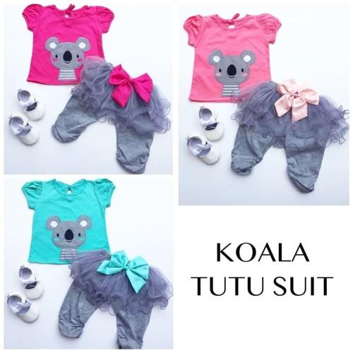 Foto Produk KOALA TUTU SET baju bayi baju anak jumper anak setelan babeebabyshop - pinkorpeach dari babeebabyshop2