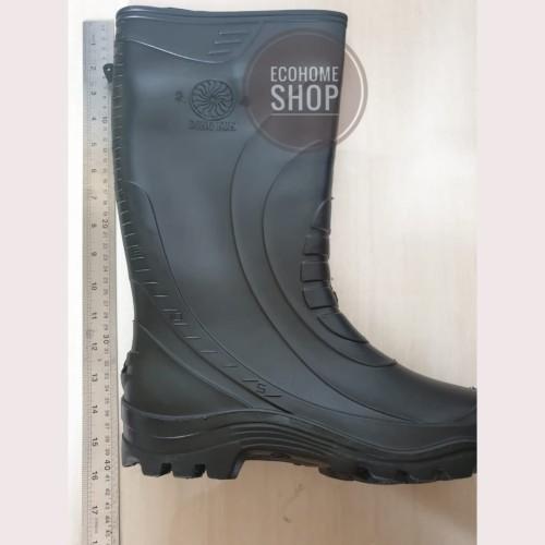 Foto Produk Termurah!! Sepatu Boot Bot Hitam Karet Tinggi kerja Proyek anti air - Hitam, 27 dari Ecohome Shop