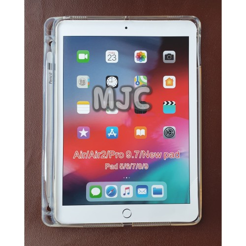 Foto Produk Silicon Soft Jacket iPad 6 2018 With Slot Pencil Case Clear Bening dari MJC