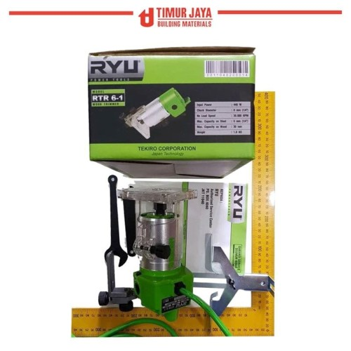 Foto Produk RYU Mesin Router Trimmer Profil Kayu Wood RTR 6 - 1 skls modern bitec dari TOKO BESI TIMUR JAYA