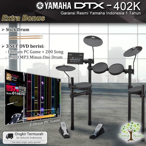 Foto Produk Drum Elektrik Yamaha DTX402 / DTX402K / DTX 402 / 402K (Penerus 400k ) dari Terra Nada