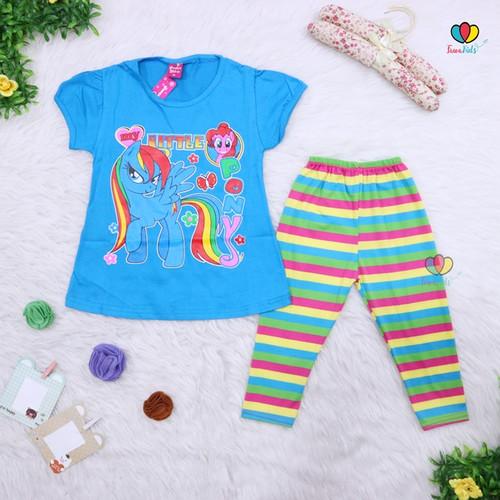 Foto Produk Setelan Catty & little Pony Uk. 4-5 Tahun / Baju Anak Perempuan Lucu - LITTLE PONY dari Kios Balita Fawa