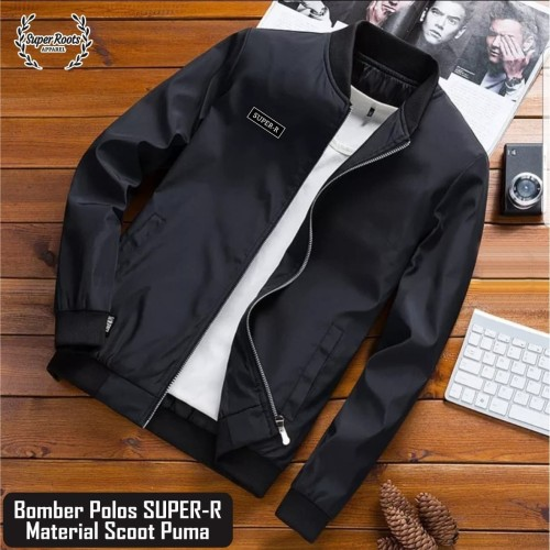 Foto Produk Jaket Bomber Simple Pria Elegants / Jaket Modern Masa Kini dari artacollection13