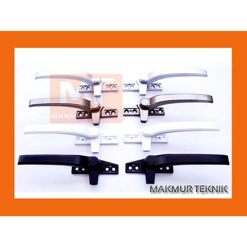 Foto Produk HANDLE JENDELA - JENDELA ALUMINIUM - RAM BUNCIS - RAMBUNCIS - CASEMENT - Hitam, Kanan dari makmurteknik