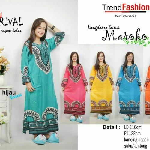 Foto Produk daster gamis Muslim baju tidur dewasa longdress batik dari grosir murah solo