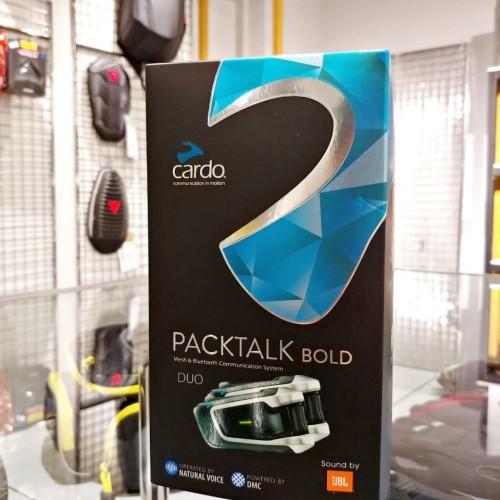 Foto Produk CARDO PACKTALK BOLD JBL + DUS INTERCOM FOR BIKERS BLUETOOTH NOT SENA dari GlintzGarage