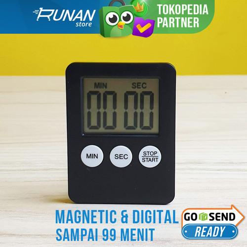 Foto Produk Digital Kitchen Timer Magnetic - Timer Dapur Cooking Baking Kue Alarm dari Runan Store