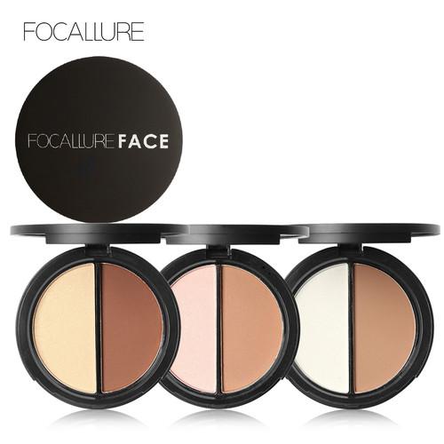 Foto Produk FOCALLURE Highlighter & Contour Double Powder Palette FA05 - FA05-01 dari beauty entity