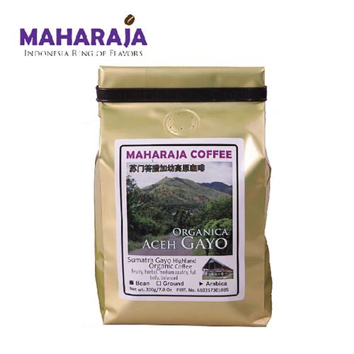 Foto Produk Kopi Gayo Organica Aceh 200g sangrai Arabika Maharaja - Biji dari Maharaja Coffee