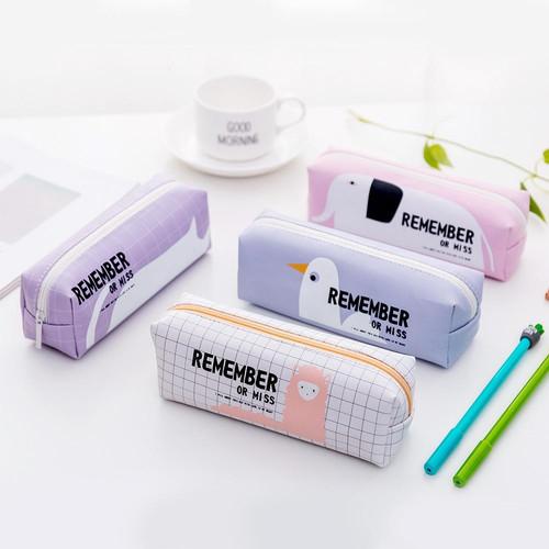 Foto Produk TP0033 Tempat Pensil Remember / Tempat Kosmetik - Merah Muda dari EnnWen Online Store