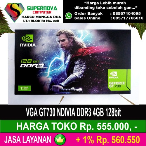 Foto Produk VGA GT730 NDIVIA DDR3 4GB 128bit dari Supernova Computer Ariet